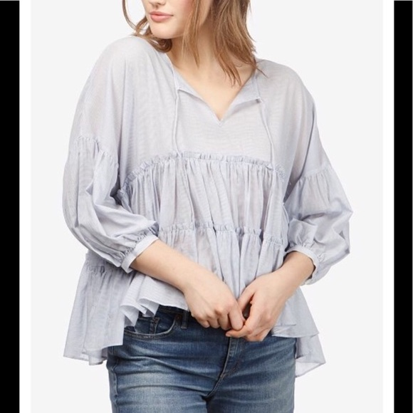 ace82ddb319 NWT Lucky Brand Peasant Blouse size large